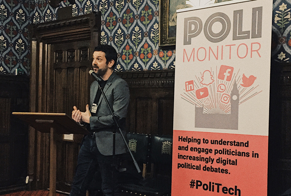 Tim Highfield speaking at the Palace of Westminster